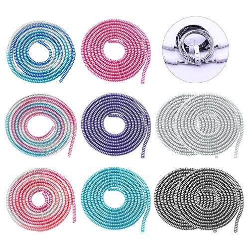 YINSONG Drahtschutz-Kopfhörer-Kabel Saver - 110cm Cable Protector Flexibler Silikon Drahtschutz Kopfhörer Kabelschoner, 8 Farben, 10PCS