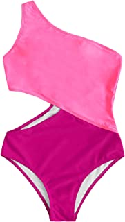 Women's Bathing Suits One Shoulder Cutout One Piece Swimsuit Swimwear Monokini