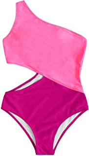 Women's Bathing Suits One Shoulder Cutout One Piece...