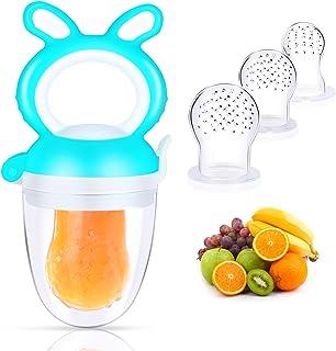 Oladwolf Chupete Fruta Bebe, Alimentador Antiahogo de Fruta Para Bebés y Niños Pequeños con 3 Tamaños Diferentes Reemplazo...