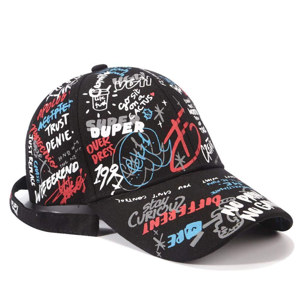 CasquetteHomme Chapeau Street Graffiti Print Face Cap Streetwear Hip Hop Casquettes De Baseball Femmes Hommes Casquette De Camionneur