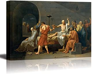 wall26 - The Death of Socrates by Jacques-Louis David - Canvas Print Wall Art Famous Painting Reproduction - 24