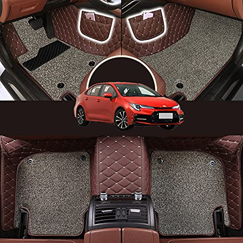 ZWMBAOR Alfombrillas Coche Doble Capa,para Toyota Levin 2021,Forros Duraderos para Todo Tipo Clima,Diseño Pedal Largo Antideslizante Resistente,para Modificaciones Interiores,H