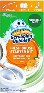 Scrubbing Bubbles Fresh Brush Toilet Cleaning System Starter Kit with 4 Refills