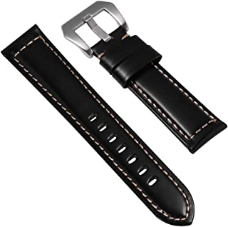 Balacoo 22mm Leather Watch Straps Watch Band Replacement Sports Watch Wristband Watch Accessory Gift for Women Men Boys Gi...