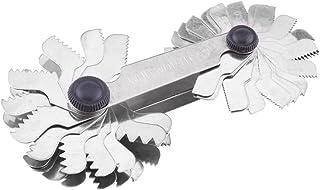 51 / 52pcs Medidor de rosca de acero inoxidable, Rosca de medición, Herramienta de medición de paso de calibre Tornillo de 60 y 55 grados(Metric& Imperial(52pc))