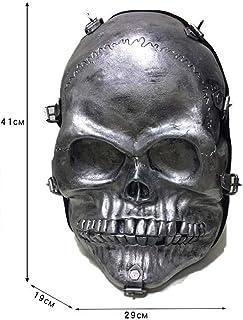 Personality Bag, 3D Stereo Skull Tassel Punk Backpack, PU Waterproof Wear Resistant Unisex Daypack Rucksack Student Bookbag for Party Gift