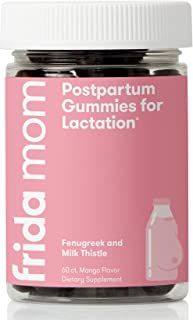Frida Mom Postpartum Gummies for Lactation| Chewable Supplement Made with Fenugreek + Milk Thistle to Increase Milk Suppl...