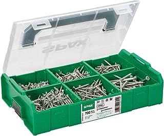 SPAX montagekoffer, L-BOXX Mini, klein, WIROX A3J, T-STAR plus, verzonken kop, 6 afmetingen, 703 stuks, incl. 3 SPAX BITs ...