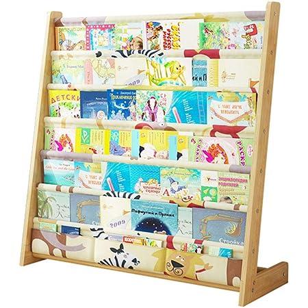 Estantería para niños Madera Estante de ensamblaje Simple de Madera Maciza Estante de almacenaje para niños de pie estantes para Libros de imágenes ...