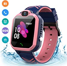 Kids Waterproof Smart Watch Phone, GPS/LBS Tracker Smart Watch for Kids for 3-12 Year Old..