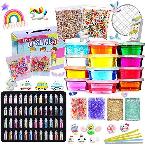 Slime Kit - Slime Making Kit for Kids Art Craft, with 48 Glitter Powder, 12...