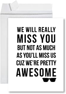 Andaz Press Funny Jumbo Retirement Card With Envelope 8.5 x 11 inch, Farewell Office, Miss You, We're Pretty Awesome 1-Pack, Includes Envelope