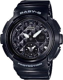 Casio Women's Quartz Watch, Analog-Digital Display and Resin Strap Bga-195-1Adr, Black Band