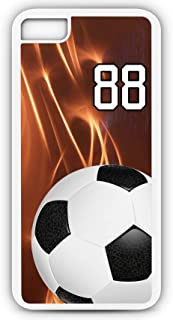 iPhone 6 Plus 6+ Phone Case Soccer SC029Z by TYD Designs in White Plastic Choose Your Own Or Player Jersey Number 88