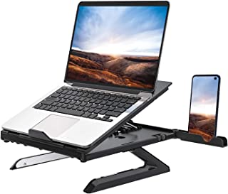 Homder Laptop Stand,Multi-Angle Adjustable Laptop Stand with Heat-Vent, Ergonomic Portable Foldable Laptop Riser for Desk Compatible with MacBook, Air, Pro,Surface Laptop up to 15 inches