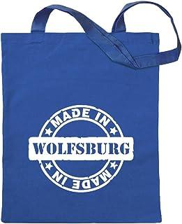Kiwistar Made in Wolfsburg Tragetasche Baumwolltasche Stoffbeutel Umhängetasche langer Henkel