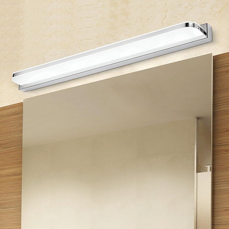 Lightess Vanity Lights LED Bathroom Light Fixtures Make Up Mirror Lights Acrylic Stainless Steel Wall Lamp, 14W Warm White