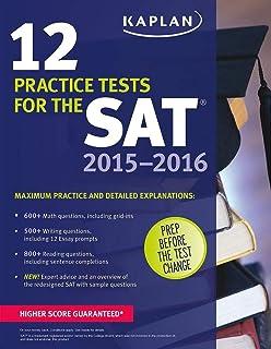 Kaplan 12 Practice Tests for the SAT 2015-2016 - Paperback