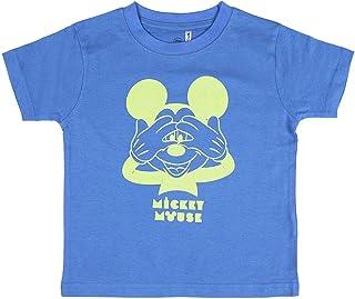 Cerdá Pijama Que Alumbran En La Oscuridad Niño de Mickey Mouse-Camiseta + Pantalon de Algodón Juego Niños