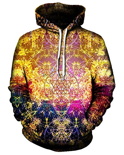 Chiclook Cool 3D Hoodie Sweatshirt Pineal Metatron Print Jackets Pullover Junior Teen Hoodie