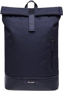 KAUKKO Rucksack Roll Top Backpack Lässiger Vintage Tagesrucksack Herren Laptop Schulrucksack fit 15 Notebook Bag für Wandern Reisen Camping