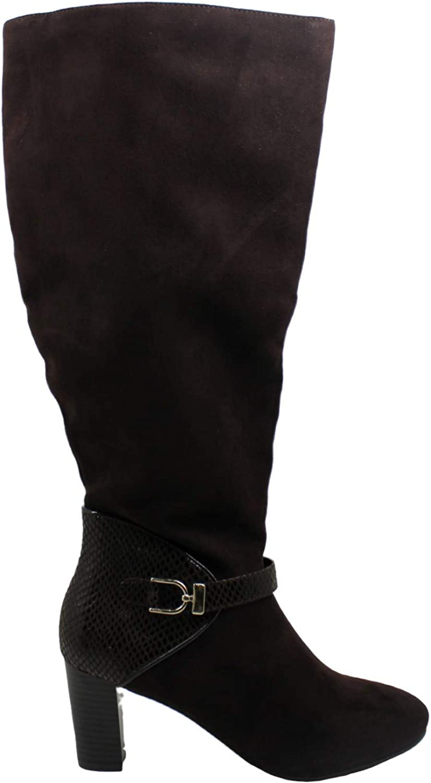 Karen Scott Womens Sharonn Closed Toe Mid-Calf Fashion Boots, Brown, Size