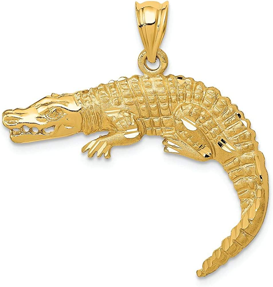 Finejewelers Ranking TOP3 14k Limited price sale Yellow Gold Alligator Charm