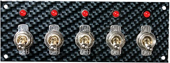 Moroso 74143 Gray/Black Fiber Design Switch Panel