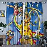 Cortina de tela sombreado moda Pikachu en el arco iris diapositiva arte ilustración El arte de las persianas opacas ocultas 42 x 62 pulgadas