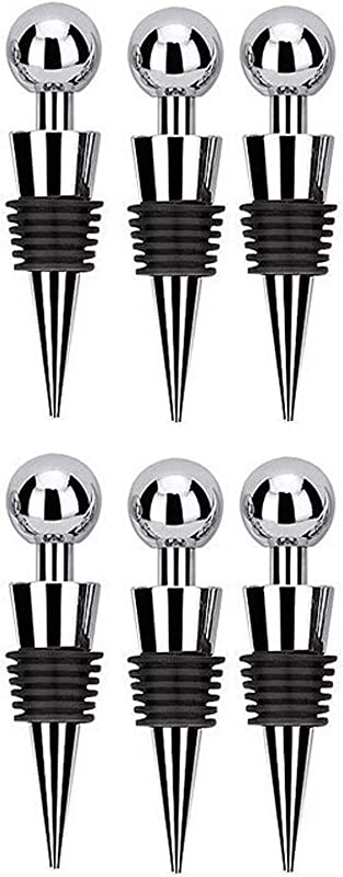 Txibi Wine Bottle Stoppers 6PCS Party Club Bar Plastic Bottle Tool Set Of 6