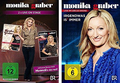 Monika Gruber - Live - DVDs (wenn ned jetzt, wann dann/zu wahr um schön zu sein/irgendwas is´ immer) im Set - Deutsche Originalware [4 DVDs]
