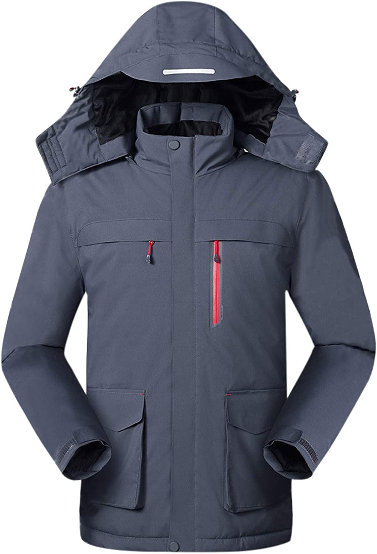 Men USB Charging Heating Jacket Outdoor Windproof Mountaineering Suit Autumn Winter Casual Warm Jacket Coat
