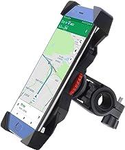 FEYG Soporte Móvil Bicicleta, Universal Soporte Movil Bici Moto Soporte para Teléfono Celular Rotación 360 para Accesorios para Bicicletas Compatible con 3,5 a 6,5