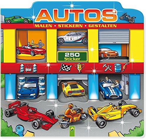 Autos: Stickern - Malen - Gestalten