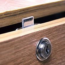 Kasten, rond, tafel, kantoor, thuis, kastslot, lade, meubelslot, 5 verpakkingen