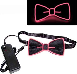 Buhui Light Up LED Suspenders Bow Tie Stage Performance Holiday Party Clothing Accessories