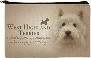 West Highland Terrier Westie Dog Breed Makeup Cosmetic Bag Organizer Pouch