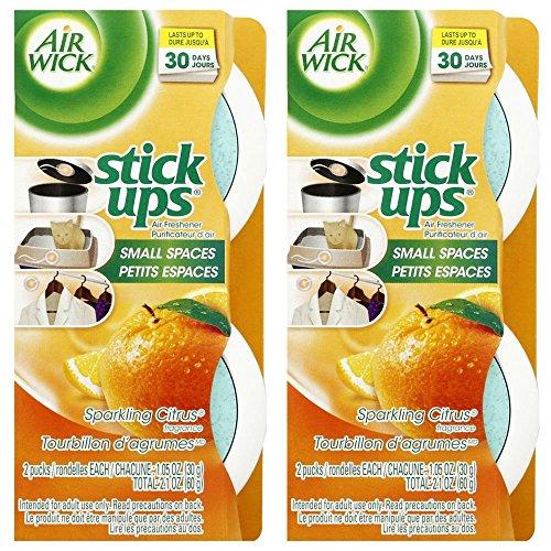 Air Wick Stick Ups Air Freshener, Sparkling Citrus, 2 ct (Pack of 2)