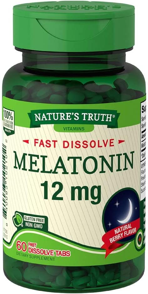 Nature's Super sale period limited Truth Melatonin 12 mg Natural Tabs Fast Berry Dissolve Baltimore Mall