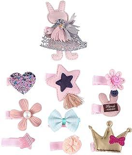 10pcs Cute Adorable Hair Clip Cloth Art Hair Pin Bobby Pin Hair Barrette Hair Accessories for Kids Children