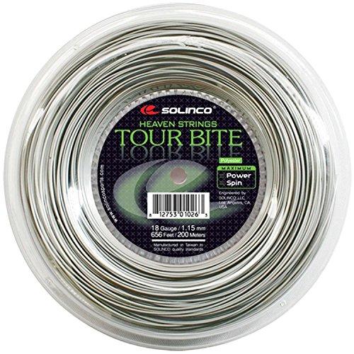 Solinco Tour Bite Saite - Silber, 1,3 mm / 200 m