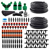 """VALINKS Garden Irrigation System with Digital Timer, Automatic Garden Watering Set Drip Irrigation Kits, 1/4"""" Blank Distribution Tubing Hose for Garden, Greenhouse, Flower Bed, Patio, Lawn"""