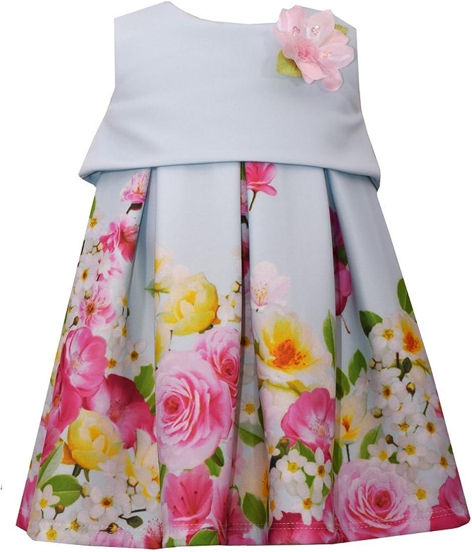 Bonnie Jean Girl's Sleeveless Printed Scuba Popover Dress