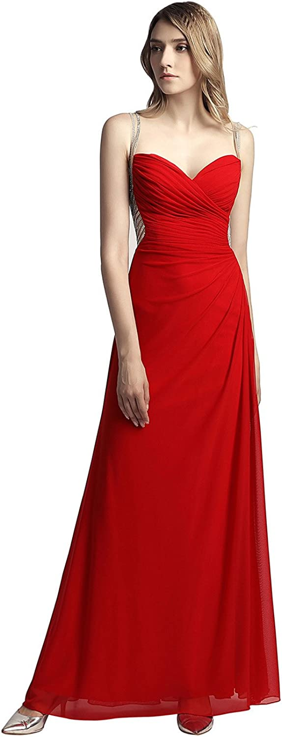 Belle House Women Prom Dress Long with Beading 2018 Sexy See Through Back Floor Length Ball Gown