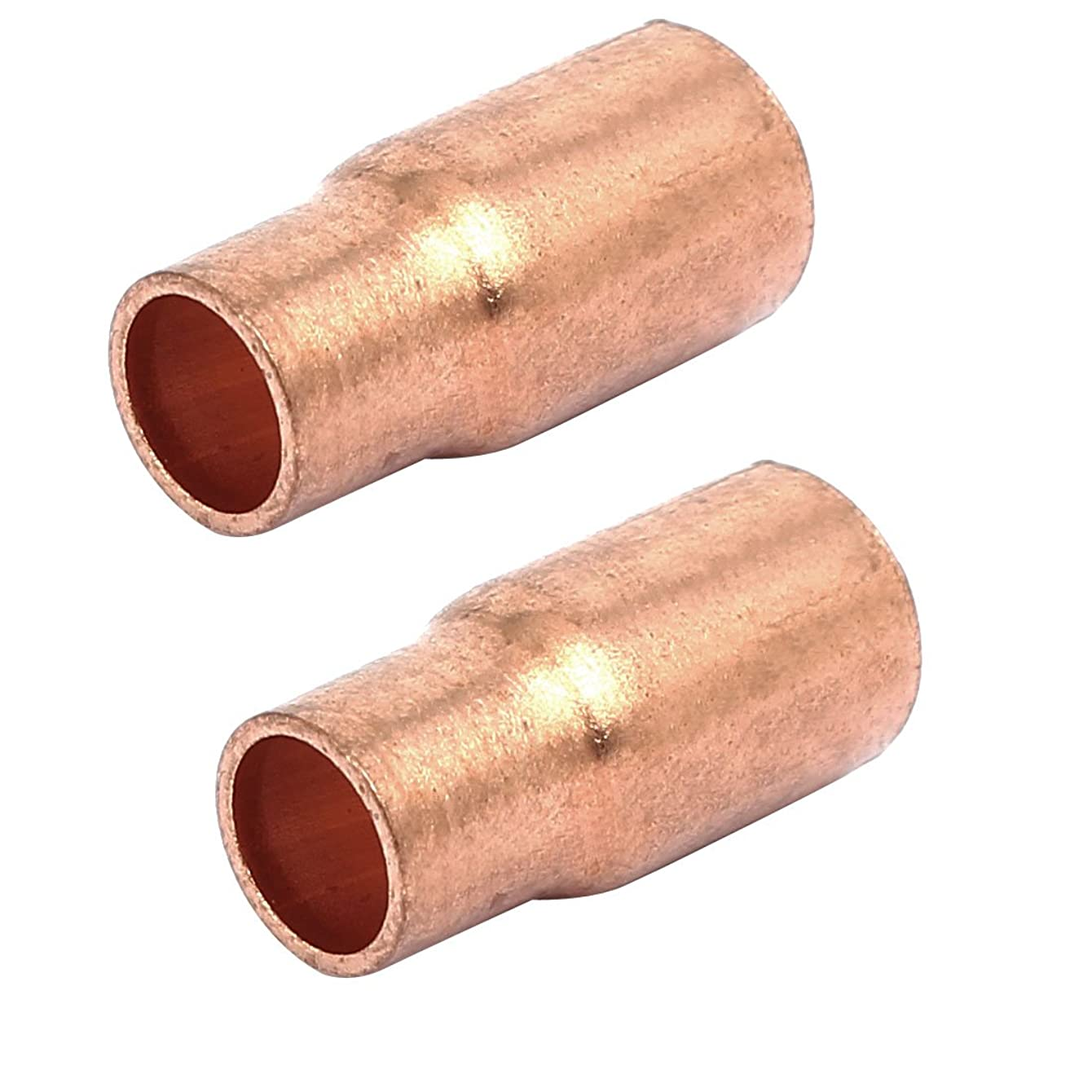 Aexit 8mmx6.35mm Tube Civil Equipment Hardware Accessories Air Conditioner Copper Reducer Straight Fittings 2pcs Model:92as122qo459