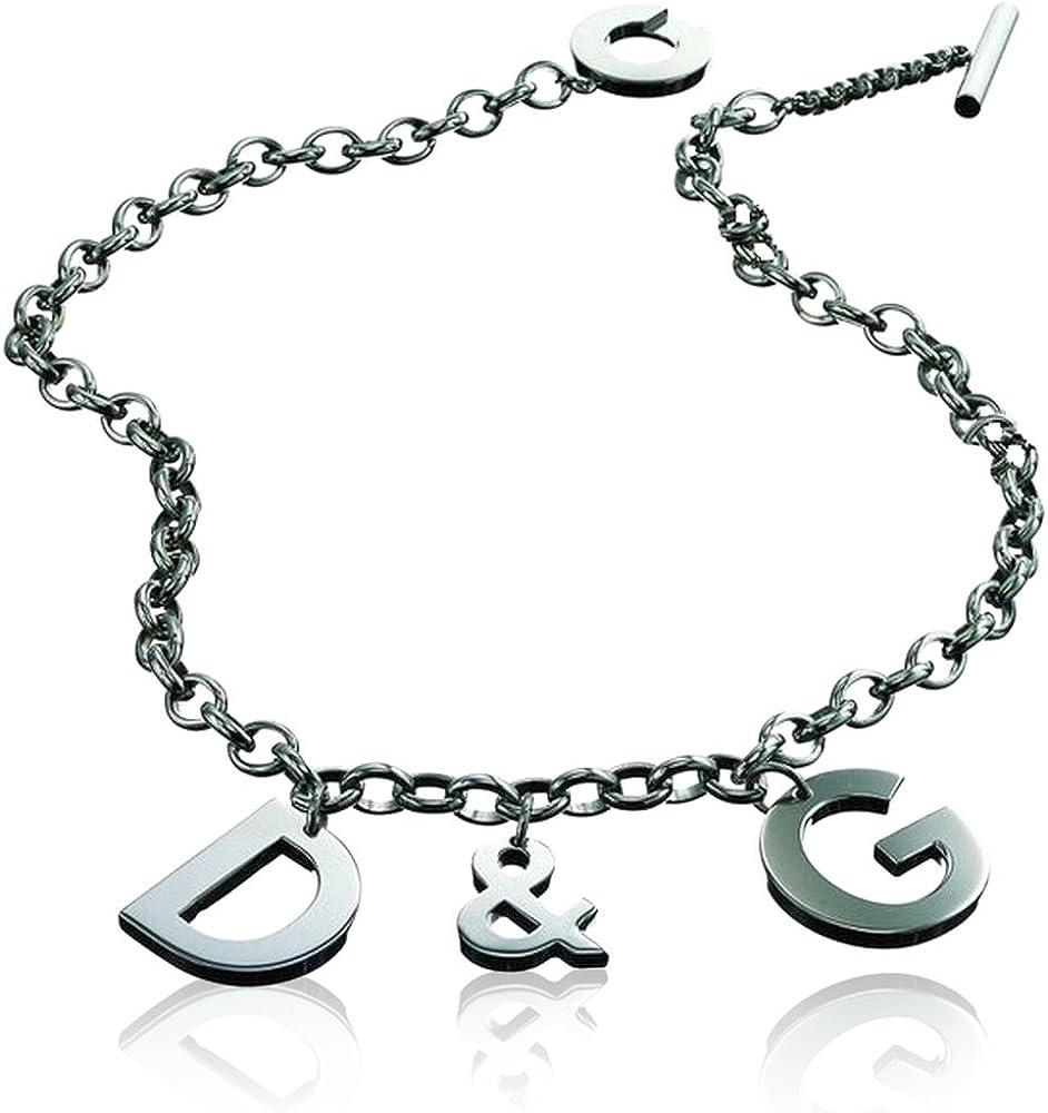 Dolce & gabbana collana in acciaio Id&G Collier DJ0107