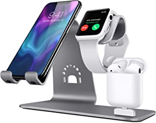Bestand iPhone/iPad/Apple watch/Airpods充電器 対応 スマートフォン充電クレードル アップルウォッチ 三用 充電デスクトップスタンド (グレー)