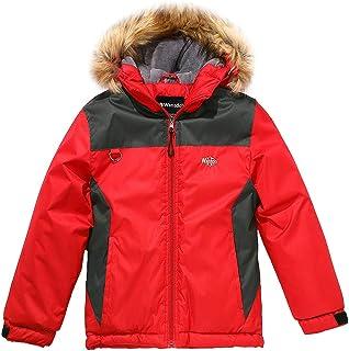 Wantdo Boy`s Waterproof Skiing Jacket Winter Snowboard Jacket Puffer Coat