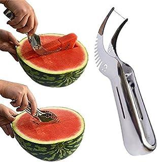 Rebanadora de sandía, cuchillo Kenor® de la sandía y rebanadora de la fruta Cortador más rápido Acero inoxidable multiusos, adminículo elegante de la cocina y regalo perfecto